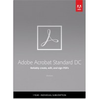 PDF processing(and OCR): Adobe Acrobat Standard DC Multi-Language 1User 1Year