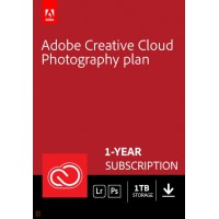 Photo editing: Adobe Photography Plan (Photoshop CC + Lightroom CC) | 1 User | 1year | 1TB cloudstorage