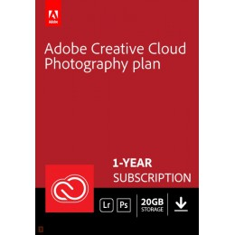 Adobe Photography Plan Creative Cloud 1 Gebruiker 1Jaar 20GB cloudopslag