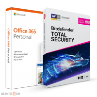Office products: Voordeelbundel: Office 365 Personal + Bitdefender Total Security 5 apparaten 1 jaar