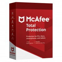 Total Security: McAfee Total Protection Multi-Device 3Devices 1year 2020