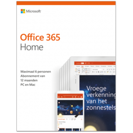 Office voor Mac: Microsoft Office 365 Home | 6Gebruikers 1jaar |  Windows | Mac | Android | iOS | Updates inbegrepen