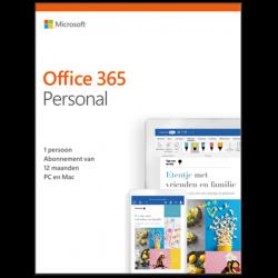 Microsoft Office 365 Personal| 1Gebruiker 1jaar | Windows | Mac | Android | iOS | Updates inbegrepen