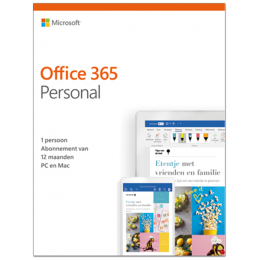 Office voor Mac: Microsoft Office 365 Personal| 1Gebruiker 1jaar | Windows | Mac | Android | iOS | Updates inbegrepen