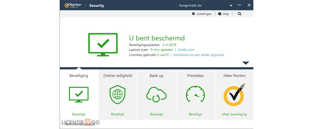 Norton Security Premium 10-Apparaten + 25GB Backup 1jaar 2019 - Antivirus inbegrepen - Windows | Mac | Android | iOS