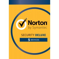 Internet Security: Norton Security Deluxe 5-Devices 1year 2020 -Antivirus included- Windows | Mac | Android | iOS