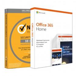 Voordeelbundel: Norton Security Premium 10-apparaten + Office 365 Home 5-apparaten